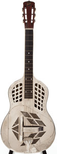 Musical Instruments:Resonator Guitars, 1927-34 National Style 2½ Nickel Plated Resonator Guitar, #1838....