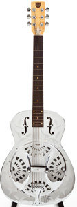 Musical Instruments:Resonator Guitars, Modern Dobro 33 Nickel-Plated Resonator Guitar, #B2219....