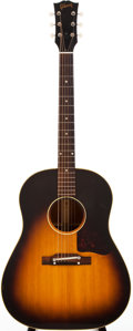Musical Instruments:Acoustic Guitars, 1957 Gibson J-45 Sunburst Acoustic Guitar, #U8672....