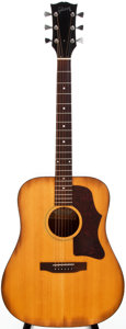 Musical Instruments:Acoustic Guitars, 1973-75 Gibson J-55 Natural Acoustic Guitar, #A005400....