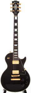 Musical Instruments:Electric Guitars, 1997 Gibson Les Paul Custom Black Solid Body Electric Guitar,#92487488....