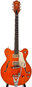 Musical Instruments:Electric Guitars, 1966 Gretsch Nashville Orange Semi-Hollow Body Electric Guitar,#126841....