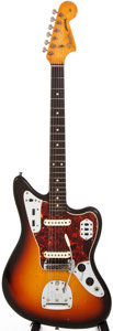 Musical Instruments:Electric Guitars, 1965 Fender Jaguar Sunburst Solid Body Electric Guitar, #L98772....
