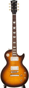 Musical Instruments:Electric Guitars, 2004 Gibson Les Paul Sunburst Solid Body Electric Guitar,#03384429....