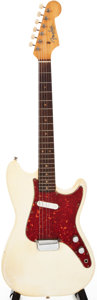 Musical Instruments:Electric Guitars, 1963 Fender Musicmaster Olympic White Solid Body Electric Guitar.#L18629....