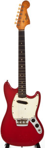 Musical Instruments:Electric Guitars, 1965 Fender Musicmaster II Dakota Red Solid Body Electric Guitar, #L60417....