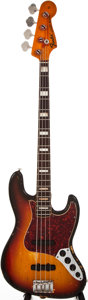 Musical Instruments:Electric Guitars, 1972 Fender Jazz Bass Sunburst Electric Bass Guitar, #369533....