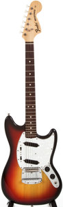 Musical Instruments:Electric Guitars, 1974 Fender Mustang Sunburst Solid Body Electric Guitar,#408718....
