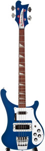 Musical Instruments:Electric Guitars, 2004 Rickenbacker 4003 Metallic Blue Solid Body Electric Guitar,#0412903....