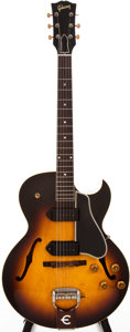 Musical Instruments:Electric Guitars, 1957 Gibson ES-225T Sunburst Semi-Hollow Body Electric Guitar, #155728....