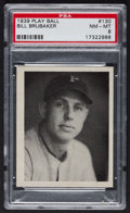 Baseball Cards:Singles (1930-1939), 1939 Play Ball Wilbur Brubaker #130 PSA NM-MT 8 - Pop 2 With NoneHigher! ...