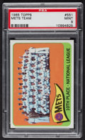 Baseball Cards:Singles (1960-1969), 1965 Topps Mets Team #551 PSA Mint 9....