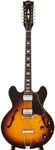 Musical Instruments:Electric Guitars, 1967 Gibson ES-33512 Sunburst 12-String Semi-Hollow Body ElectricGuitar, #306....