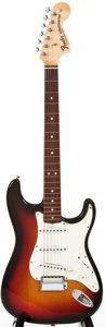 Musical Instruments:Electric Guitars, 1969 Fender Stratocaster Sunburst Solid Body Electric Guitar,#F269052....