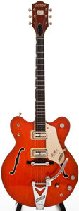 Musical Instruments:Electric Guitars, 1966 Gretsch Chet Atkins Nashville Orange Archtop Electric Guitar,#126847....