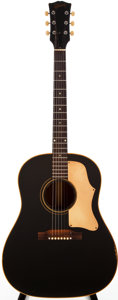 Musical Instruments:Acoustic Guitars, 1966-69 Gibson J-45ADJ Black Acoustic Guitar, #800869....