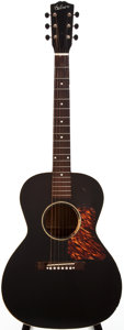 Musical Instruments:Acoustic Guitars, 1937 Gibson L-00 Black Acoustic Guitar, #N/A....
