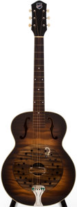 Musical Instruments:Acoustic Guitars, 1940s National Tiger Stripe Brown Resonator Guitar, #2265H1235....