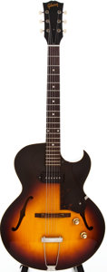 Musical Instruments:Electric Guitars, 1960 Gibson ES-125TC Sunburst Semi-Hollow Body Electric Guitar,#R47821....