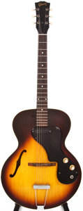 Musical Instruments:Electric Guitars, 1964 Gibson ES-120T Sunburst Semi-Hollow Body Electric Guitar,#112829....