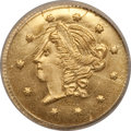 California Fractional Gold: , 1859 50C Liberty Round 50 Cents, BG-1002, High R.4, MS65 NGC. NGCCensus: (5/0). PCGS Population (7/2). (#10831)...