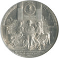 Miscellaneous Medals and Tokens, 1909 New York Aluminum Hudson-Fulton Celebration Medal MS66 NGC. . ...
