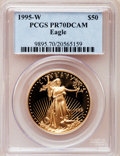 Modern Bullion Coins: , 1995-W G$50 One-Ounce Gold Eagle PR70 Deep Cameo PCGS. PCGSPopulation (132). NGC Census: (564). Numismedia Wsl. Price for...