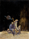 Art:Illustration Art - Pulp, FRANK FRAZETTA (American, 1928-2010). Tomorrow Midnight,paperback cover, 1966. Oil on board. 19.5 x 14.75 in..Sign...