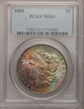 Morgan Dollars: , 1888 $1 MS63 PCGS. PCGS Population (11661/15888). NGC Census:(10777/23066). Mintage: 19,183,832. Numismedia Wsl. Price for...