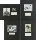 Football Collectibles:Others, Football Greats Signed Displays Lot of 4 - Oosterbaan, Fears, Ewbank and Nevers....