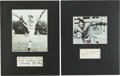 Football Collectibles:Others, Bronko Nagurski and Ken Strong Signed Displays Lot of 2....