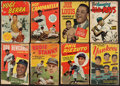 Baseball Collectibles:Publications, 1950-54 Baseball Comic Collection (8) With Mays and Campanella. ...