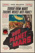 "Movie Posters:Science Fiction, Red Planet Mars (United Artists, 1952). One Sheet (27"" X 41"").Science Fiction.. ..."