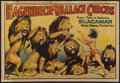 "Movie Posters:Miscellaneous, Circus Poster (Hagenbeck-Wallace, 1930s). Poster (28"" X 41"").Miscellaneous.. ..."
