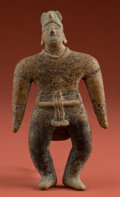 American Indian Art:Pottery, Standing Colima Warrior...