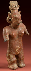 """American Indian Art:Pottery, Standing """"Sheep Face"""" Jalisco Woman..."""