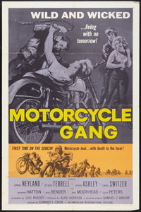 "Motorcycle Gang (American International, 1957). One Sheet (27"" X 41""). Exploitation"