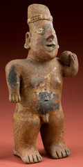American Indian Art:Pottery, Standing Jalisco Ball Player...