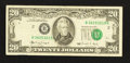 Error Notes:Shifted Third Printing, Fr. 2077-B $20 1990 Federal Reserve Note. Very Fine.. ...