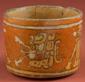 American Indian Art:Pottery, Maya Polychrome Cup with Resurrection God...