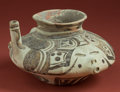 "American Indian Art:Pottery, Huastec ""Tea Pot"" Vessel with Faces..."