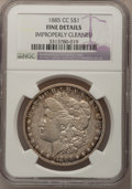 1885-CC $1 --Improperly Cleaned--NGC Details. Fine. NGC Census: (2/8116). PCGS Population (11/17477). Mintage: 228,000...