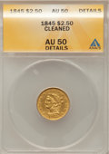 Liberty Quarter Eagles: , 1845 $2 1/2 --Cleaned--ANACS. AU50 Details. NGC Census: (16/193).PCGS Population (20/48). Mintage: 91,051. Numismedia Wsl. ...