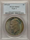 Eisenhower Dollars: , 1976-D $1 Type Two MS64 PCGS. PCGS Population (659/2399). NGC Census: (214/1190). Mintage: 82,179,568. Numismedia Wsl. Pric...