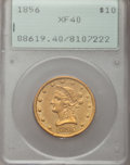 Liberty Eagles: , 1856 $10 XF40 PCGS. PCGS Population (21/148). NGC Census: (15/279).Mintage: 60,490. Numismedia Wsl. Price for problem free...