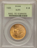 Indian Eagles: , 1926 $10 AU55 PCGS. PCGS Population (74/27327). NGC Census:(17/31606). Mintage: 1,014,000. Numismedia Wsl. Price for probl...
