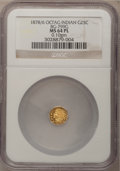 California Fractional Gold: , 1878/6 25C Indian Octagonal 25 Cents, BG-799G, R.5, MS64 ProoflikeNGC. .10gm. NGC Census: (1/1). ...