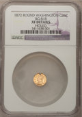 California Fractional Gold: , 1872 25C Washington Round 25 Cents, BG-818, Low R.4,--Holed--NGCDetails. XF. NGC Census: (0/10). PCGS Population (0/102). ...