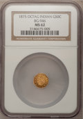 California Fractional Gold: , 1875 50C Indian Octagonal 50 Cents, BG-946, R.4, MS62 NGC. NGCCensus: (3/1). PCGS Population (23/40). (#10804)...