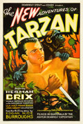 "Movie Posters:Serial, The New Adventures of Tarzan (Burroughs-Tarzan-Enterprise, 1935).One Sheet (27"" X 41"").. ..."